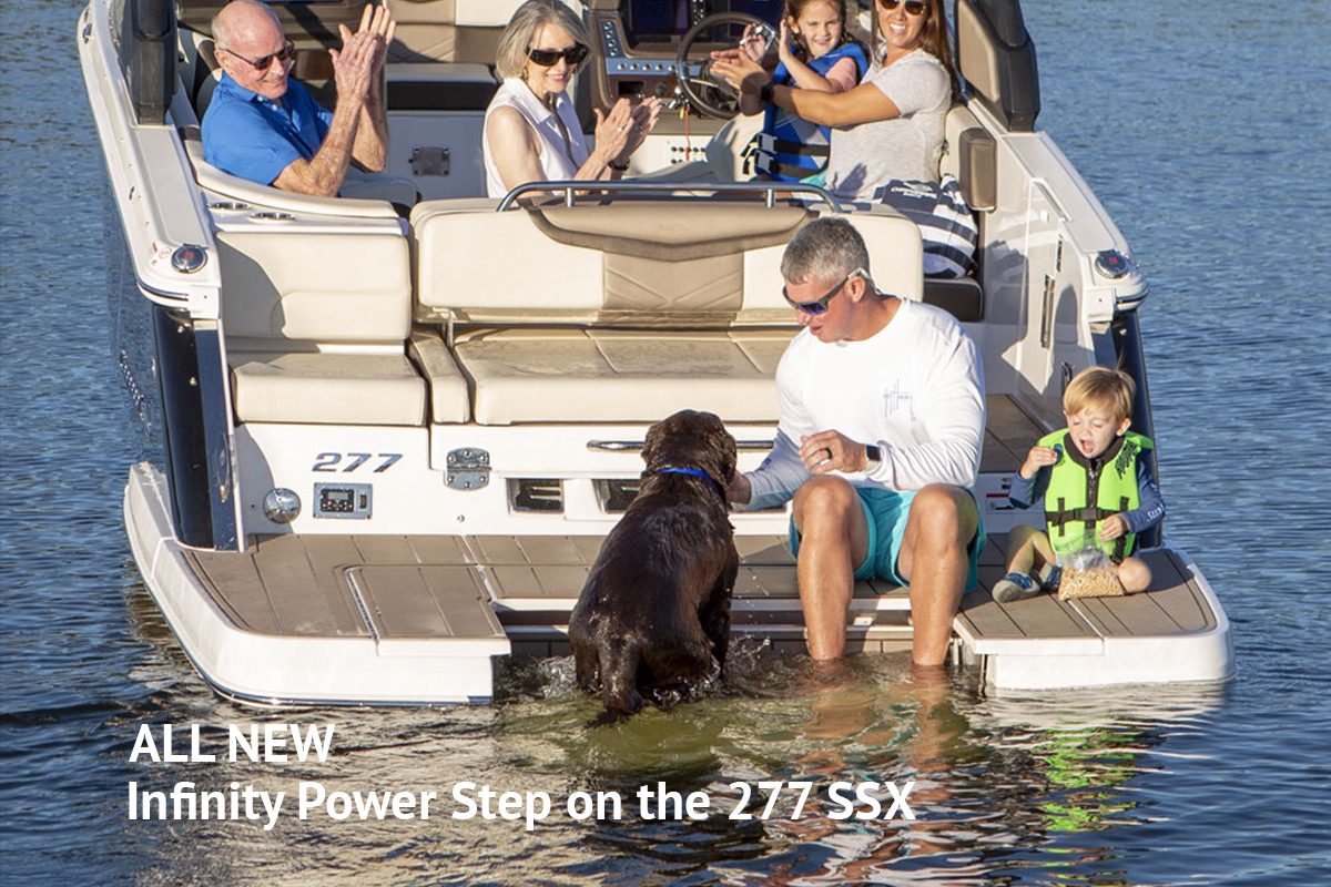 Chaparral's All New Infinity Step at Dealer's Choice Marine Orlando Florida