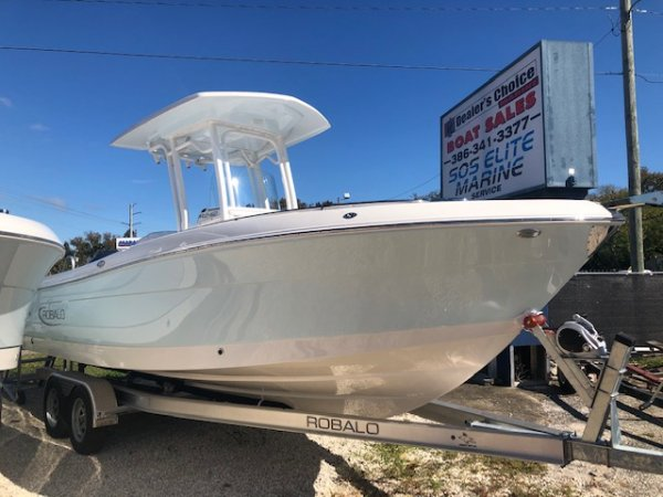 A ROBALO 242 EXPLORER is a Power and could be classed as a Center Console, Fish and Ski, High Performance, Saltwater Fishing, Ski Boat, Wakeboard Boat, Sport Fisherman, Runabout,  or, just an overall Great Boat!