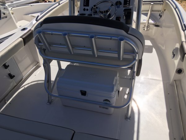 Fish and ski boats combine many features needed to fish as well as ski.  They will have storage bins for fishing tackle, and a ski pylon to pull skiers with.